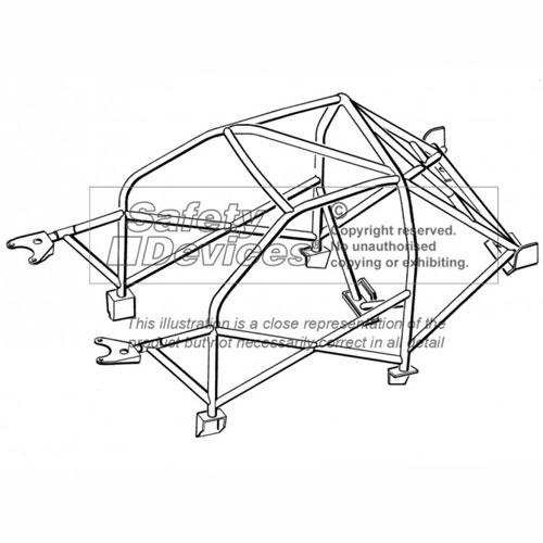 Safety Devices Peugeot 205 Multipoint Weld In Roll Cage on Timing Tape